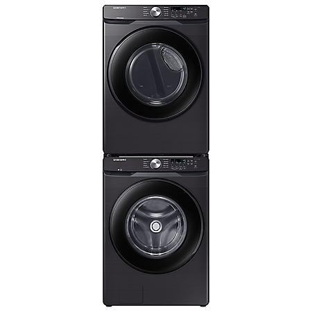 Samsung Stackable 4.5 cu. ft. Front-Load Washer & 7.5 cu. ft. Electric Dryer - Black Stainless Steel