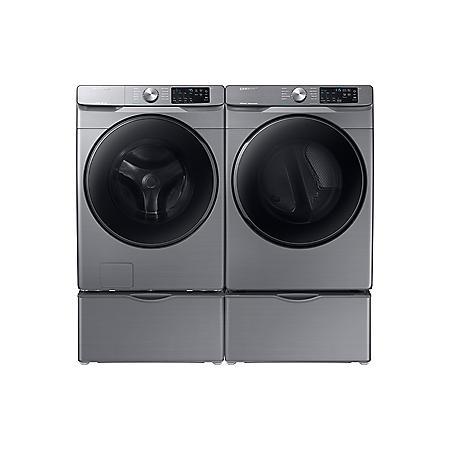 Samsung 4.5 cu. ft.  Front-Load Washer & 7.5 cu. ft. Electric Dryer - Platinum