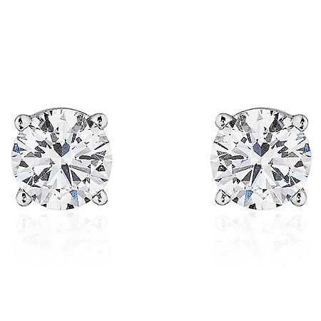 Superior Quality Collection 0.60 CT. T.W. Round Diamond Studs in 18K Gold (I, VS2)