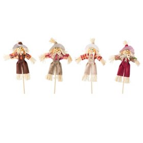 Straw Scarecrow Picks, Assorted (12 pk.)