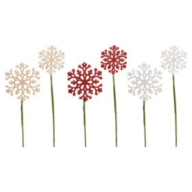 Glitter Snowflake Picks (36 pk.)