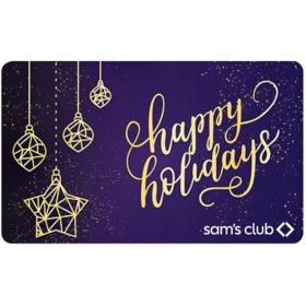 Sam's Club Gift Card (Royal Christmas) -Various Amounts