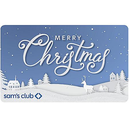 MERRY CHRISTMAS $70 SAMS GC