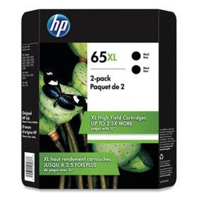 HP 65XL 2-Pack High Yield Black Original Ink Cartridge