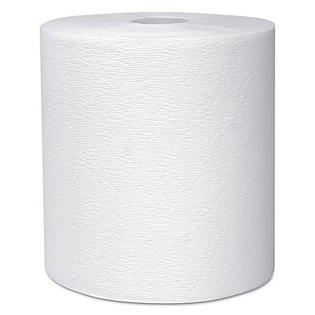 "Scott Essential Plus Hard Roll Paper Towels 8"" x 600 ft, 1 3/4"" Core dia, White, 6 Rolls/CT"