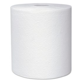 "Scott Essential Plus Hard Roll Paper Towels 8"" x 600 ft, 1 3/4"" Core dia, White, 6 Rolls/CT"