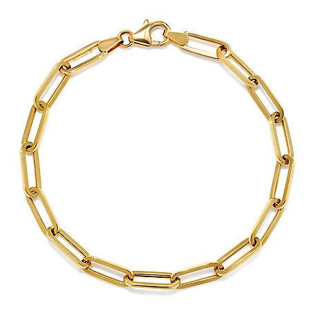 14K Italian Gold Small Link Paperclip Bracelet