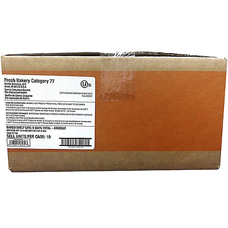 Cinnamon Crunch Muffin, Bulk Wholesale Case (60 ct.)
