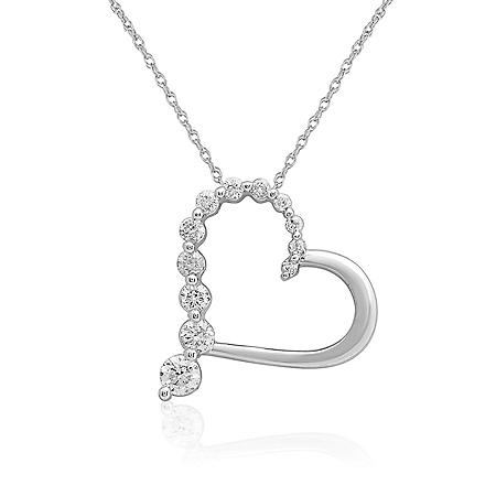 0.25 CT. T.W. Diamond Pendant 14K White Gold