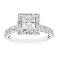 1.25 CT. T.W. Princess Diamond Engagement Ring in 14K Gold (I, I1)