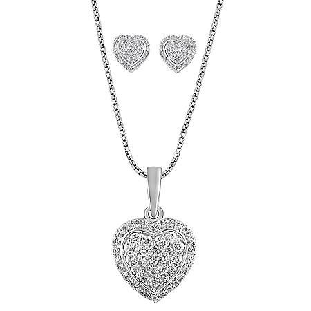 0.50 CT. T.W. Diamond Heart Boxset in 14K White Gold