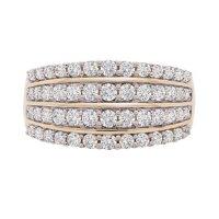 1.00 CT. T.W. Diamond 4-Row Ring in 14K Yellow Gold (I, I1)