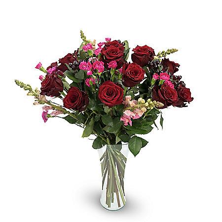 Premium Fortuna Mixed Rose Bouquet, Red