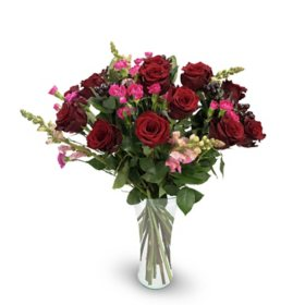 Premium Fortuna Mixed Rose Bouquet, Red