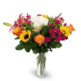 Premium Happiness Under the Sun Mixed Bouquet, Summer