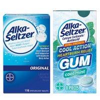 Alka-Seltzer Heartburn Relief Gum (8 ct.) and Alka-Seltzer Original Antacid Effervescent Tablets (116 ct.)