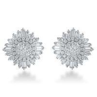 1.00 CT. T.W. Diamond Earrings in 14K White Gold