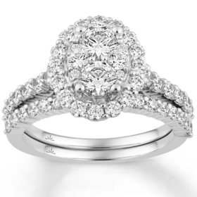 2.0 CT. T.W. Round Shape Bridal Set in 14K Gold