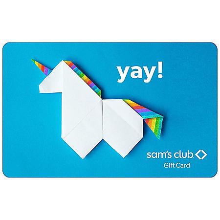 Sam's Club Yay Unicorn Gift Card - Various Amounts