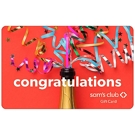 Sam's Club Congratulations Streamers Gift Card - Various Amounts