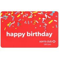 Sam's Club Happy Birthday Confetti Gift Card - Various Amounts
