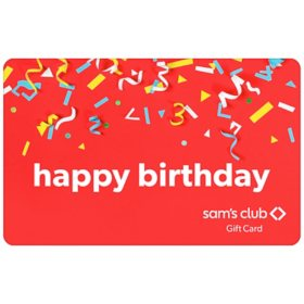 Sam's Club Happy Birthday Confetti Gift Card - Various Amounts