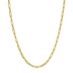 14K Italian Gold Small Link Paperclip Chain