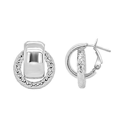 Italian Sterling Silver Door Knocker Earrings