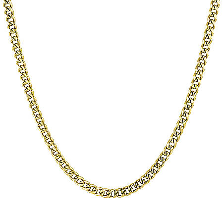 """14K Yellow Gold Open Curb Necklace, 16-18"""""""
