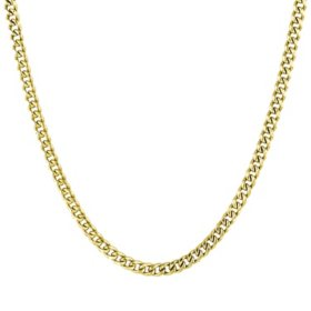 14K Yellow Gold Open Curb Necklace, 16-18""