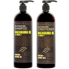 Pierre's Apothecary Macadamia Oil Rejuvenating Shampoo & Conditioner (33.8 fl., oz. 2 pk.)