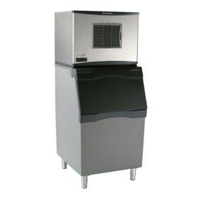 "Scotsman 30"" Wide Ice Machine with Bin, Half Dice (500 lbs.)"