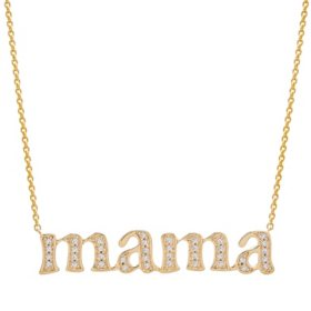 0.15 CT. T.W. Diamond Mama Necklace in 14k Yellow Gold (I, I1)