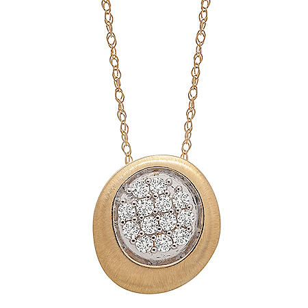 0.25 CT. T.W. Diamond Circle Pave Pendant in 14k Yellow Gold (I, I1)