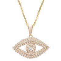 0.33 CT. T.W. Diamond Evil Eye Pendant in 14k Yellow Gold (I, I1)