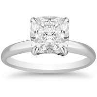 Superior Quality Collection 3.0 CT. T.W. Cushion Shaped Diamond Solitaire Ring in 18K Gold (I, VS2)