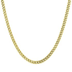 14K Yellow Gold Open Curb Necklace