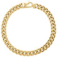 7.9MM Curb Link Men's Bracelet in 14K Yellow Gold