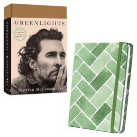 Greenlights/Green Tile Linen Journal Bundle