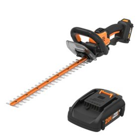 WORX 20V Power Share Cordless 22'' Hedge Trimmer(Free Extra Battery)