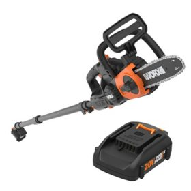 "WORX 20V Power Share 10"" Cordless Pole/Chainsaw with Auto-Tension(Free Extra Battery)"