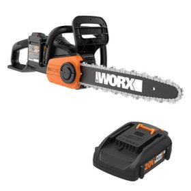 "WORX 40V 14"" Cordless Chainsaw with Auto-Tension(Free Extra Battery)"