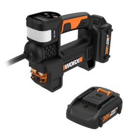 WORX 20V Power Share Portable Inflator(Free Extra Battery)