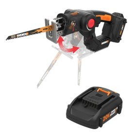 WORX 20V Power Share Axis Cordless Reciprocating and Jig Saw(Free Extra Battery)