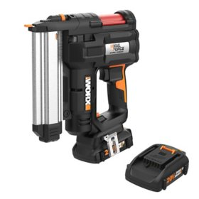 WORX 20V Power Share 18-Gauge Brad Nail/Staple Gun with NailForce Technology(Free Extra Battery)