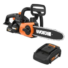"WORX 20V 10"" Cordless Chainsaw with Auto-Tension(Free Extra Battery)"