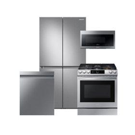 Samsung 4 pc. Electric Kitchen Suite with 29 cu. ft. 4-Door Flex Refrigerator