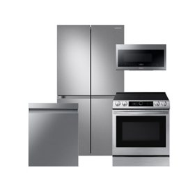 Samsung 4 pc. Electric Kitchen Suite with 23 cu. ft. 4-Door Flex Refrigerator