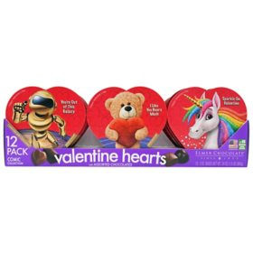 Valentine's Day 12-Pack Comic Assorted Chocolate Hearts