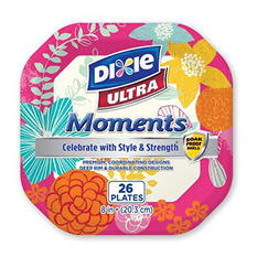 """Dixie Ultra Moments 8"""" Paper Plates (3pk. 26ct.)"""